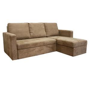 Linden Tan Microfiber Convertible Sectional / Sofa Bed   Kmart