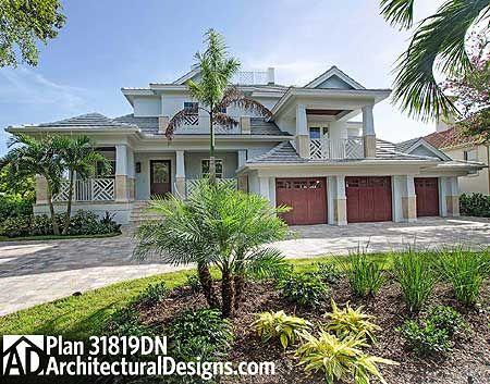 Glamorous Great Room House Plan Mediterranean Style House Plans Florida House Plans Dream House Plans
