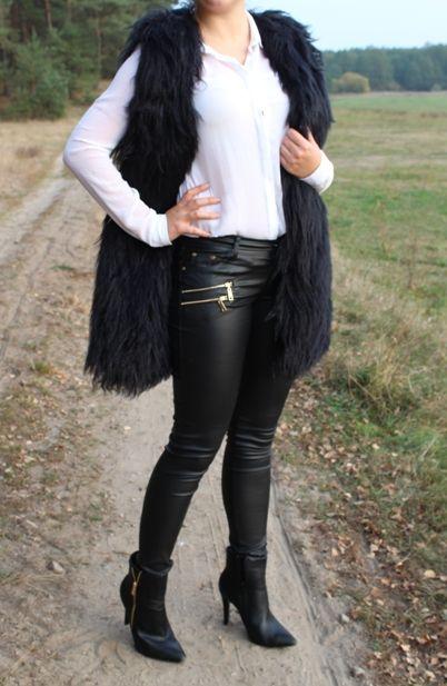 Czarna Kamizelka Futrzana Futerko Bezrekawnik 36 S 4698188693 Oficjalne Archiwum Allegro Fashion Pants Knee Boots