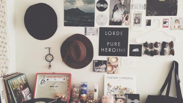 Tumblr Bedroom Grunge Theme Inspiration Hipster Room Cool Dorm Rooms Dorm Wall Decor