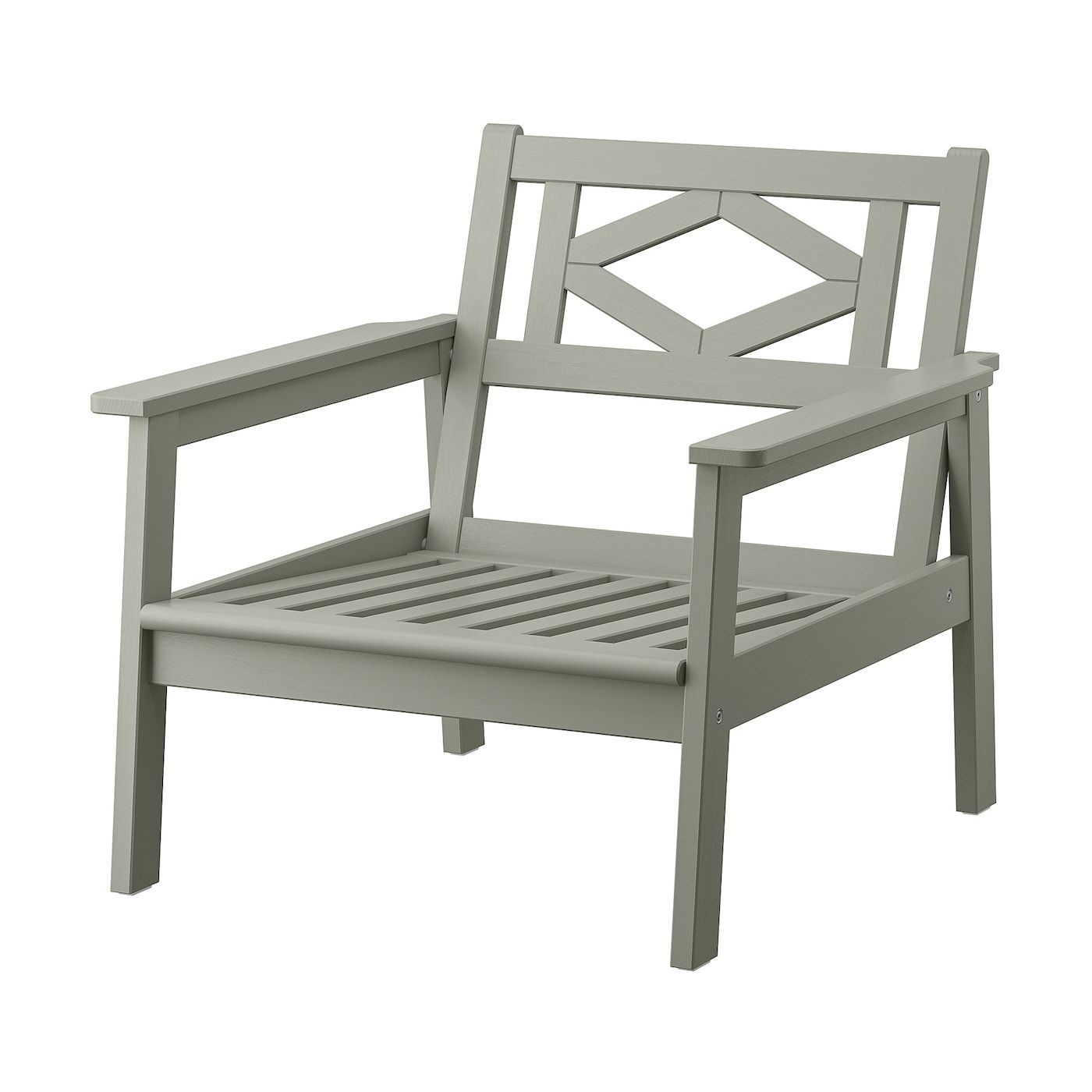 Bondholmen Armchair Outdoor Gray Stained In 2020 Grey Stain Furniture Ikea Console Table