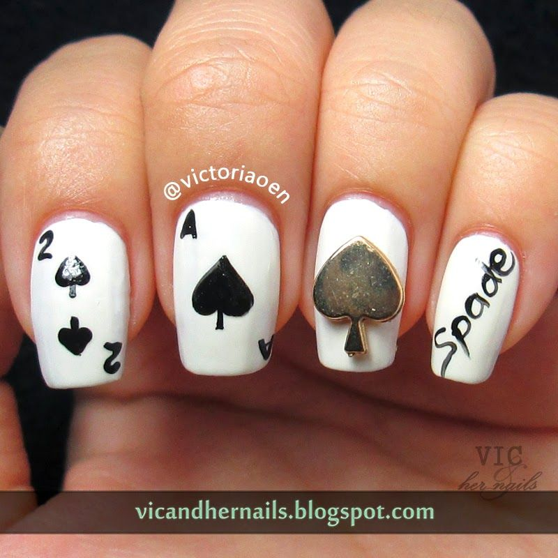 Vic and Her Nails: Born Pretty Store - Spade Heart Diamond Club Studs Review