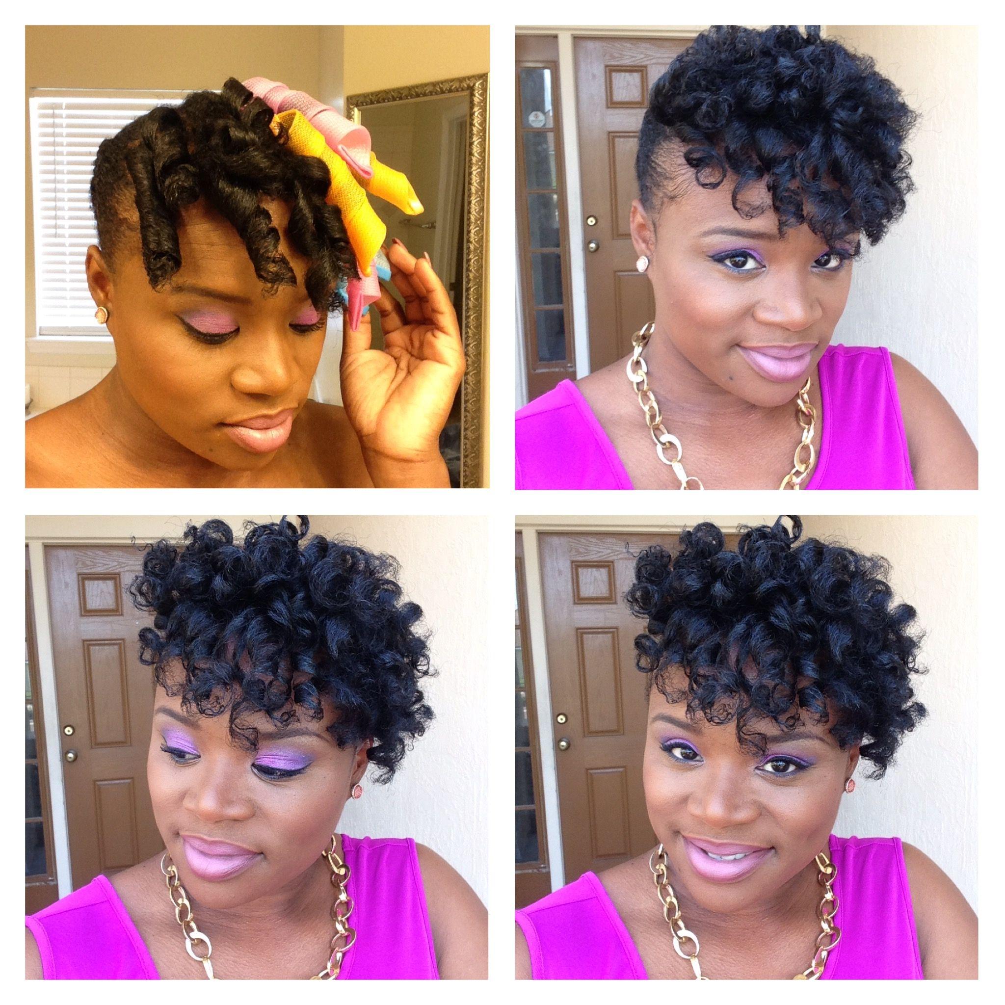 Curl formers on natural hair natural hair updo natural