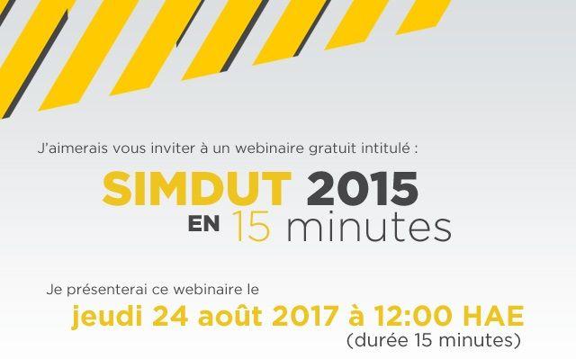 Webinaire gratuit  Le SIMDUT 2015 en 15 minutes! -   blog