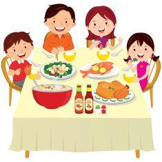 Family Eating Happily Family Eating Family Dinners Kids Family Dinner
