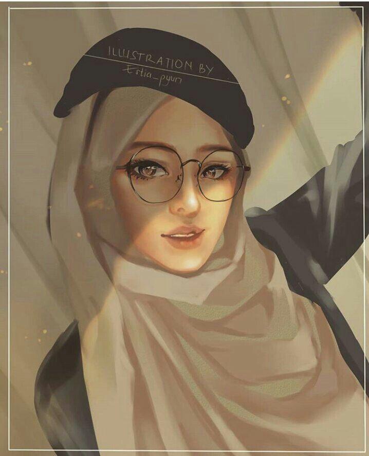 Glasses hijab girl