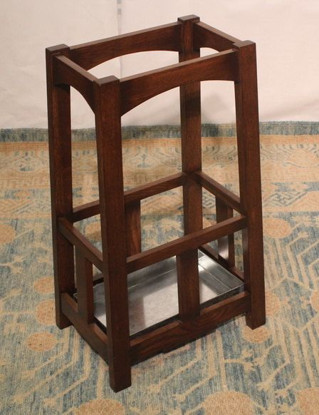 Style Umbrella Stand Made Of Solid Oak