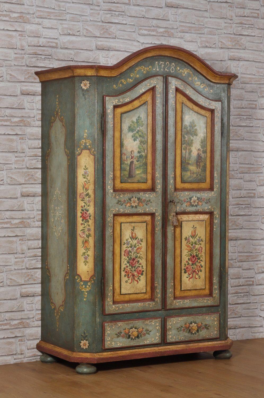 Chalk Paint Per Porte armadio di lusso decorato a mano in stile '700 barocco