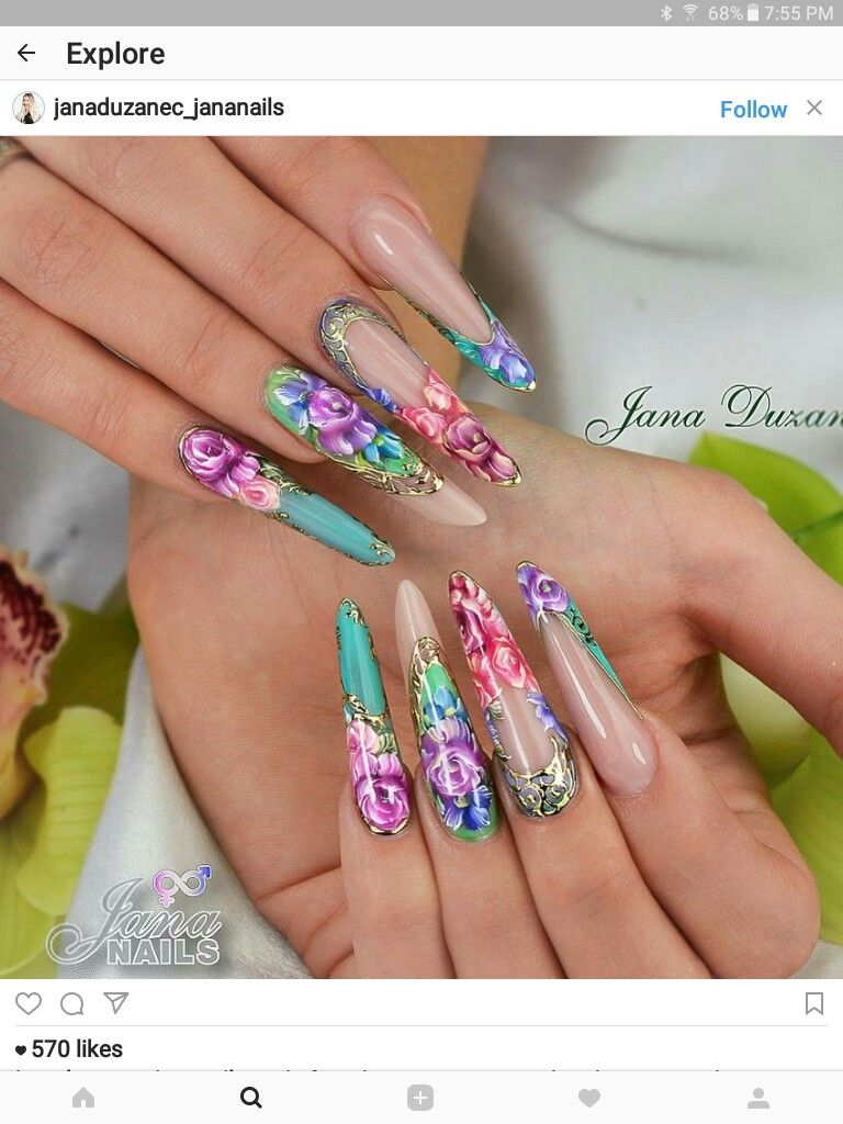 Pin by Mariana D\'Inca on Arte uñas   Pinterest   Stiletto nail art ...