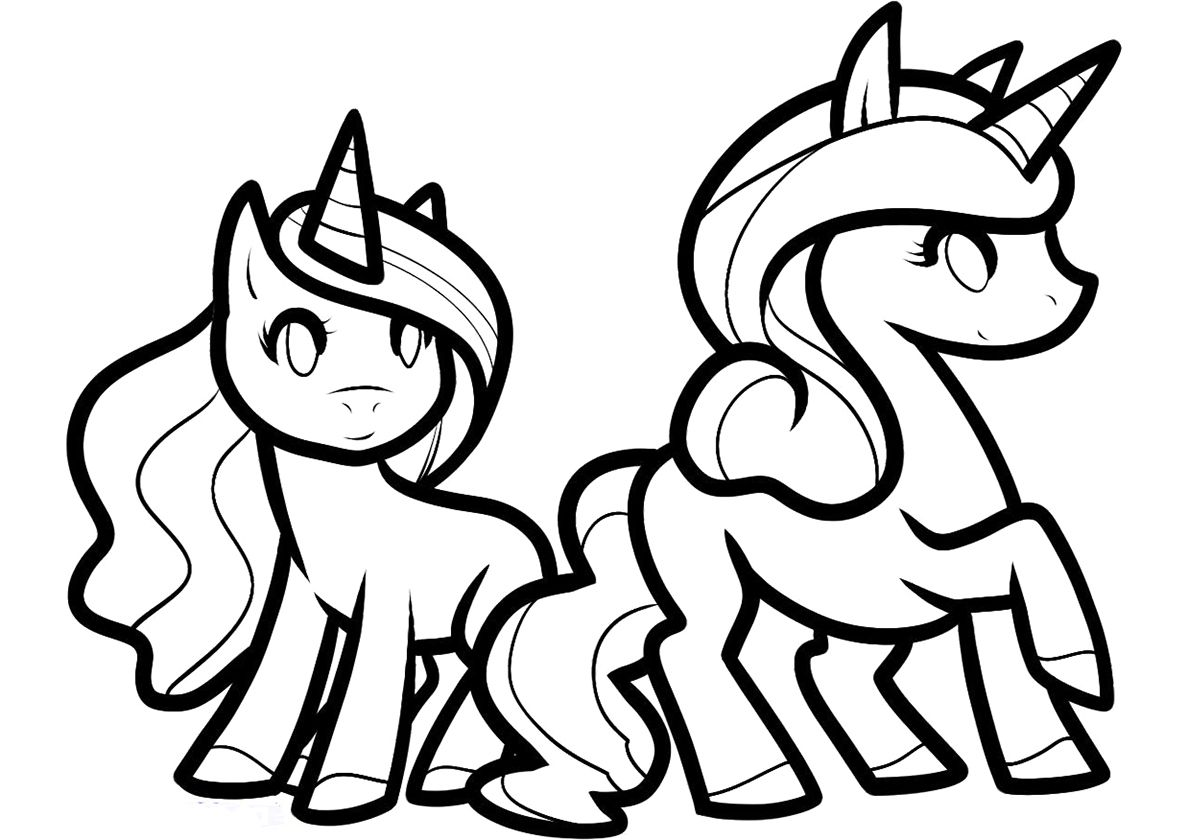 Best Friends High Quality Free Coloring From The Category Unicorn More Printable Pictures Unicorn Coloring Pages Cute Coloring Pages Cartoon Coloring Pages