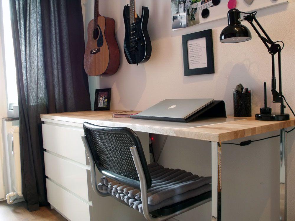 malm dresser with table top ikea makeover ikea malm schreibtisch schreibtisch malm kommode. Black Bedroom Furniture Sets. Home Design Ideas