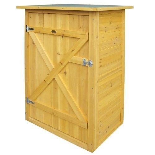 Wooden Outdoor Storage Cabinet Garden Tools Organiser Box Cupboard