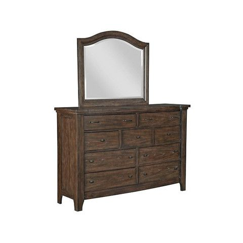 Attic Retreat Drawer Dresser W Arched Mirror By Broyhill Broyhill Furniture Mirrored Furniture Furniture