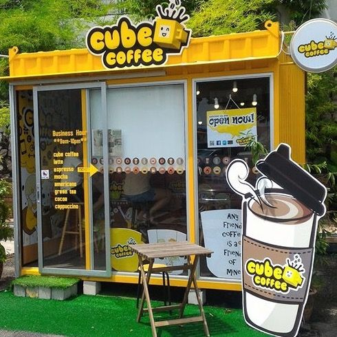 Cubecoffee Concept Coffee Container Idea Malaysia Penang Coffee Design Ahpeng New Idea For Young Start Business Kedai Kopi Desain Restoran Restoran