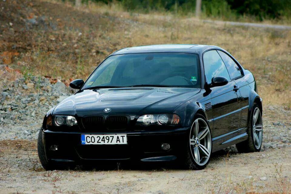 BMW E46 M3 black stance