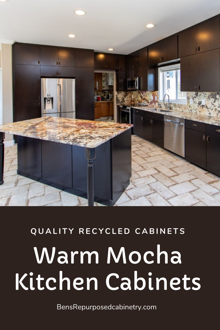 Mahoney Mocha Used Cabinets At Ben S Repurposed Cabinetry In 2020 Used Kitchen Cabinets Recycled Kitchen Kitchen Set Cabinet