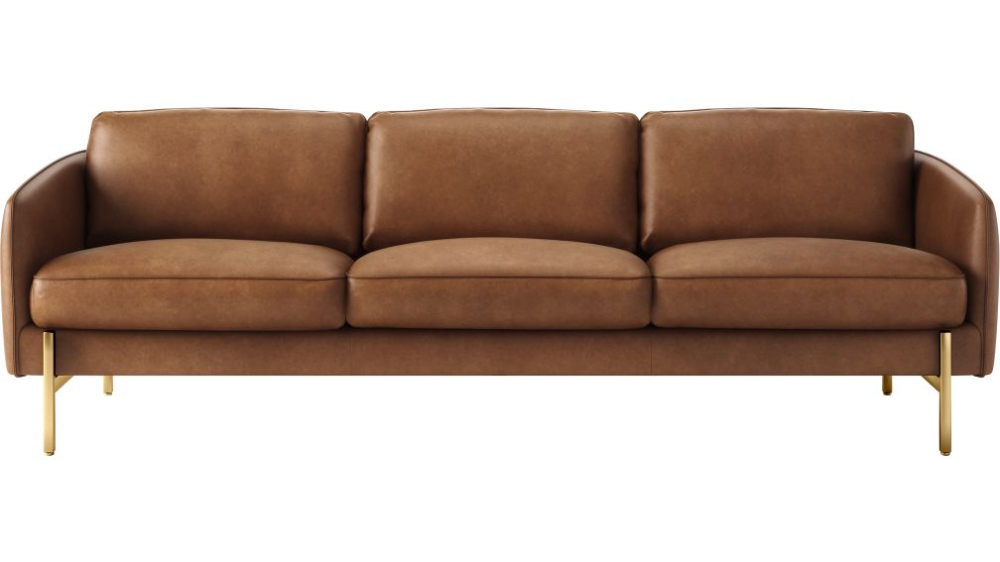Hoxton Leather Sofa Reviews Cb2 In 2020 Black Leather Sofas Green Leather Sofa Best Leather Sofa