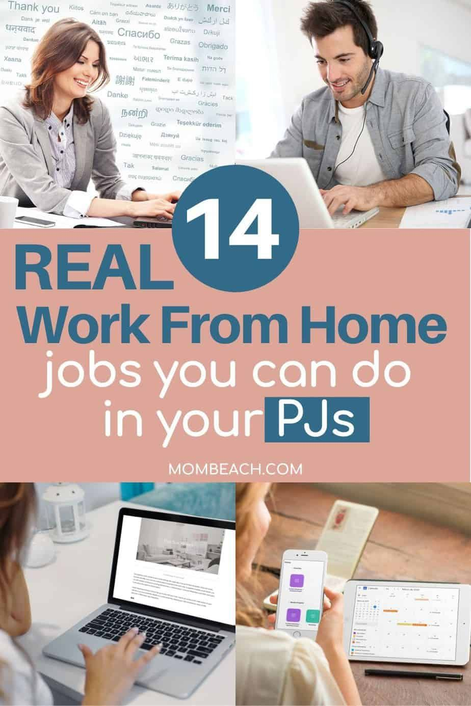 14 Real Work From Home Jobs that Pay Well