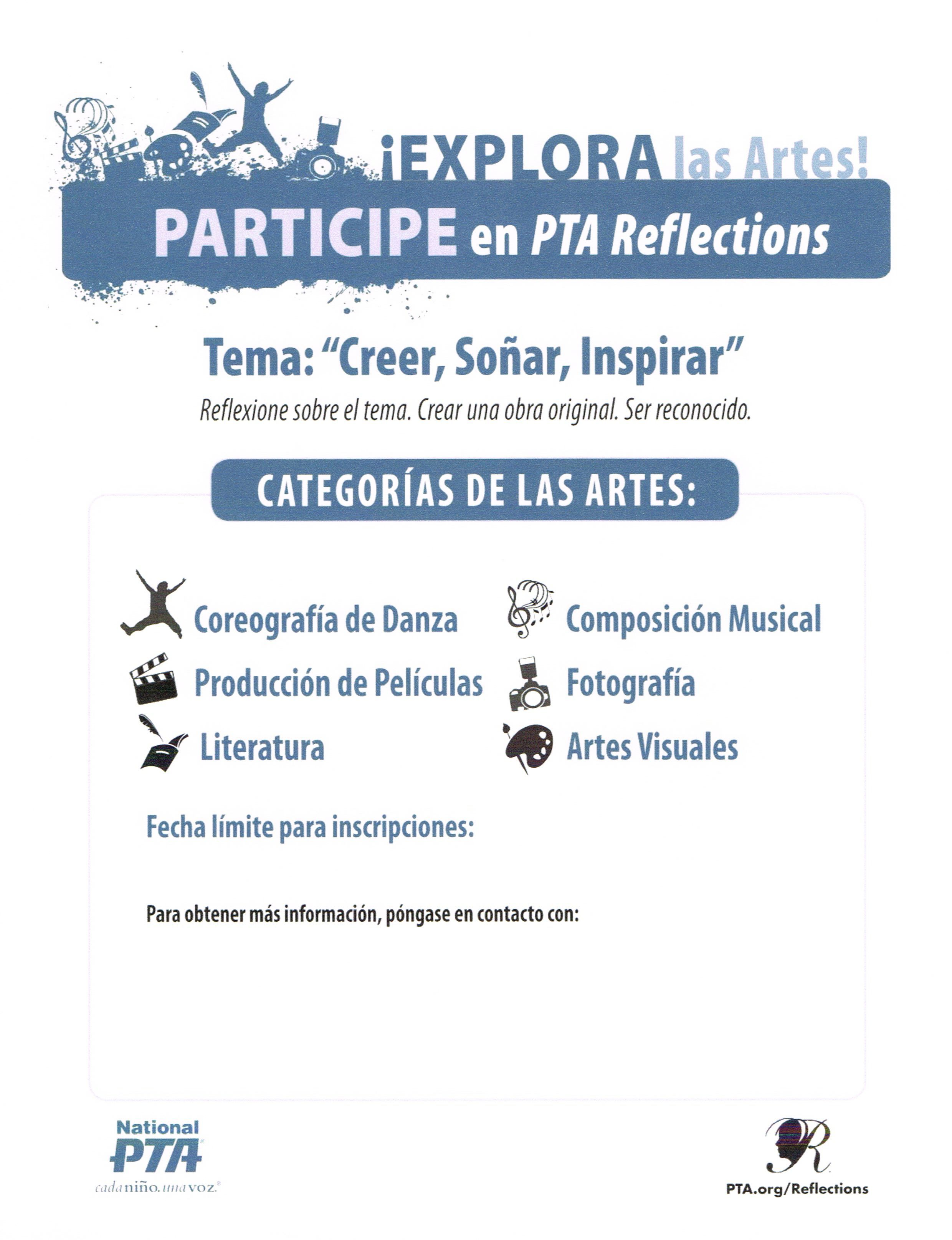 Spanish Version Of The Reflections Flyer Find At This Link