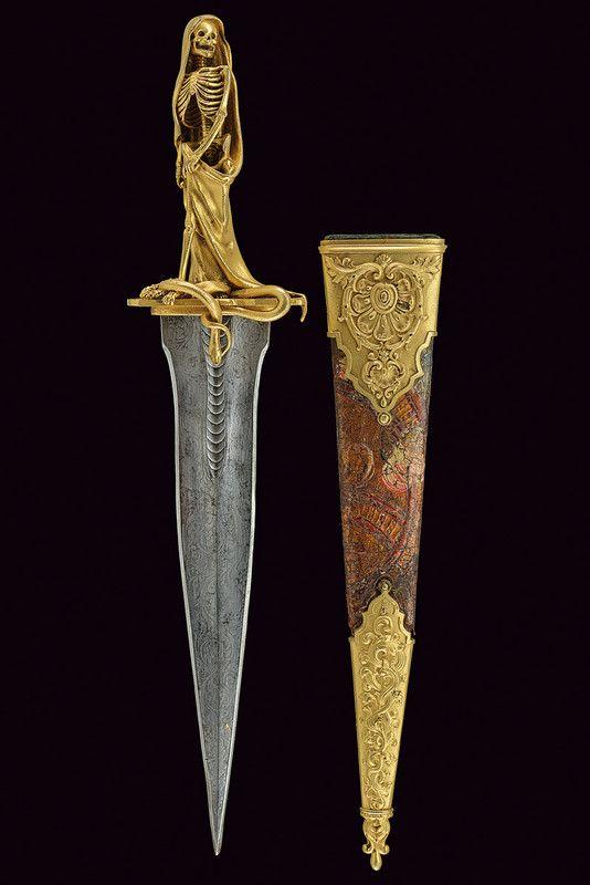 French Dagger w/ Skeleton Hilt Circa Mid. 19th Century