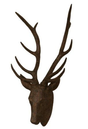 Amazon.com: Rust Faux Deer Head Wall Mount | Rust Stag | Oxidized Metallic Look | Modern Home Decor | Modish Decor: Home & Kitchen