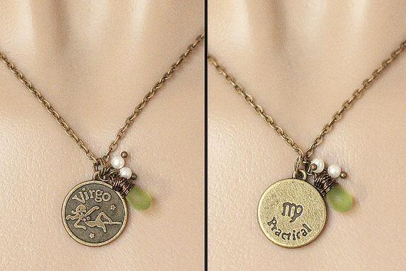 Virgo Necklace  Zodiac Necklace Sun Sign Charm by TheTeardropShop, $24.00