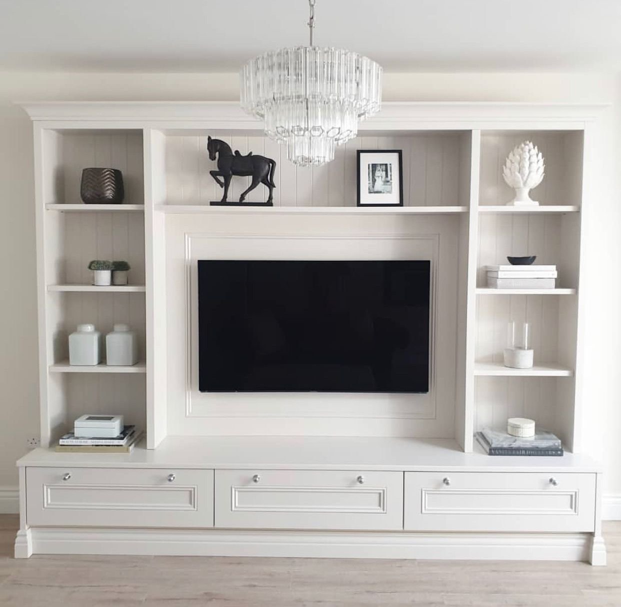 Pin By On Home Ideas Built In Shelves Living Room Living Room Wall Units Tv Room Design