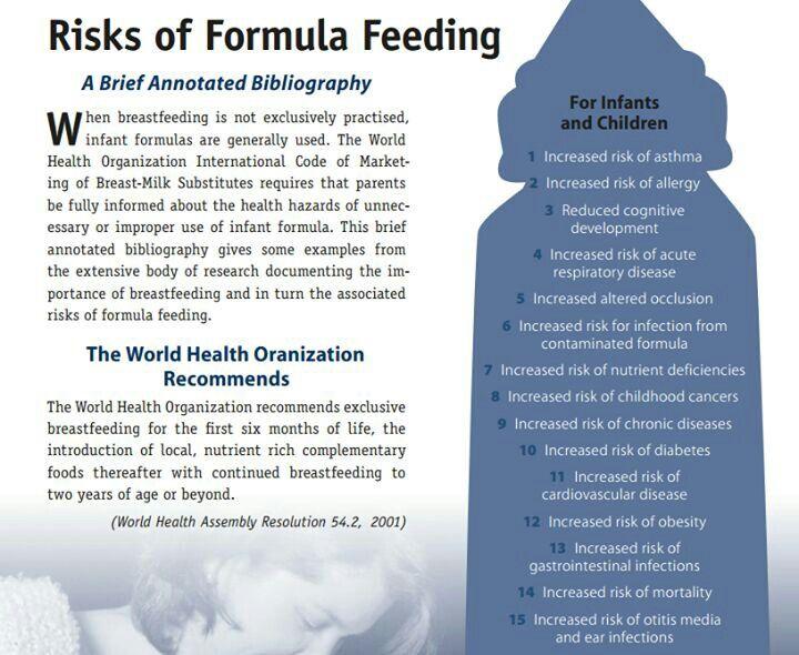 Good To Know Risks Of Formula Feeding Breastfeeding