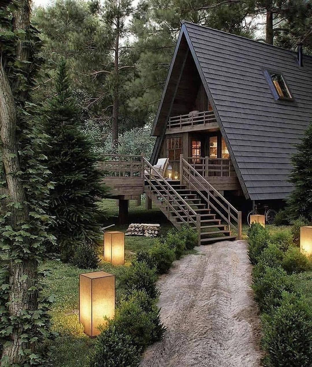 Over 16000 Step By Step Instructions Of Wooden Plans Check Link In Bio Tiny House Tiny House Design Tiny Hou Ecological House Forest House A Frame House