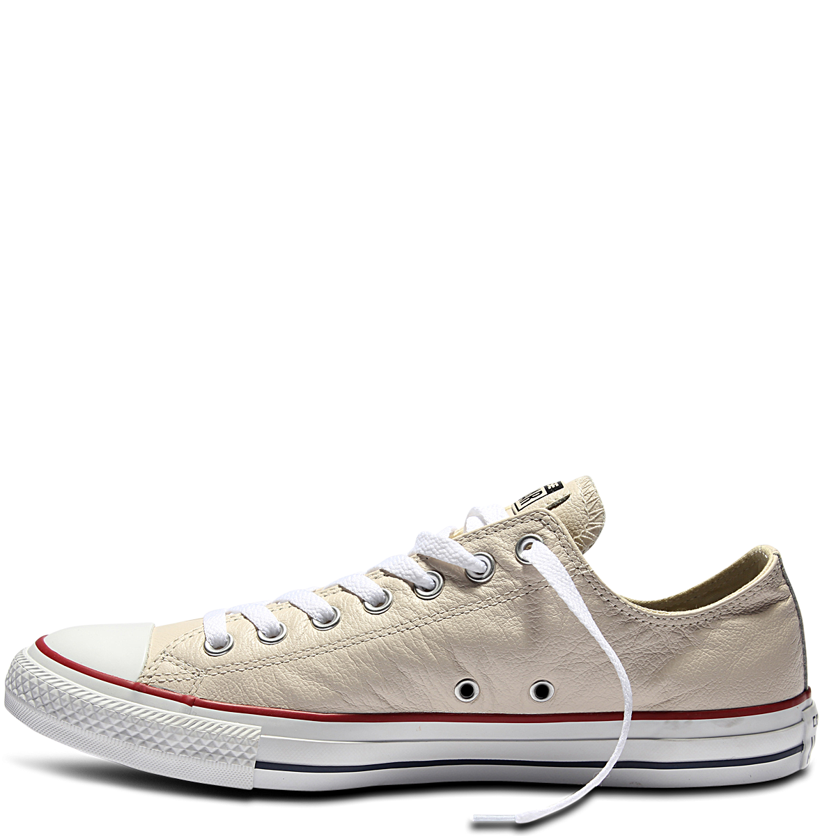 7e57ce0f3654 Chuck Taylor All Star Leather Parchment Navy White