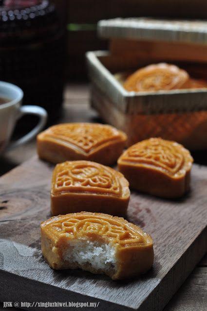爱厨房的幸福之味: 椰蓉月饼 Shredded Coconut Moon Cake #mooncake