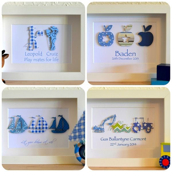 Baby Boys Personalised Gifts - Great quality personalsied gift ...