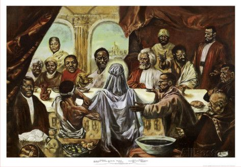 LAST SUPPER 8X10 POSTER AFRICAN AMERICAN ART PRINT