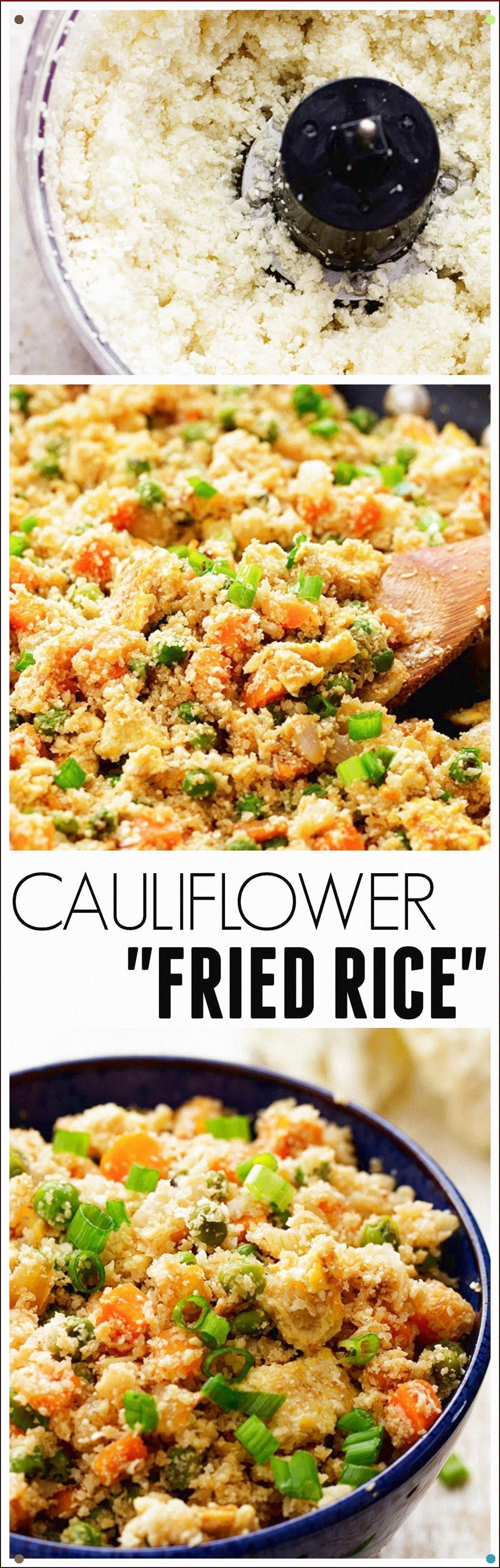 This Cauliflower Fried Rice Looks And Tastes Exactly Like Fried Rice But So Much... #cauliflowerfriedrice