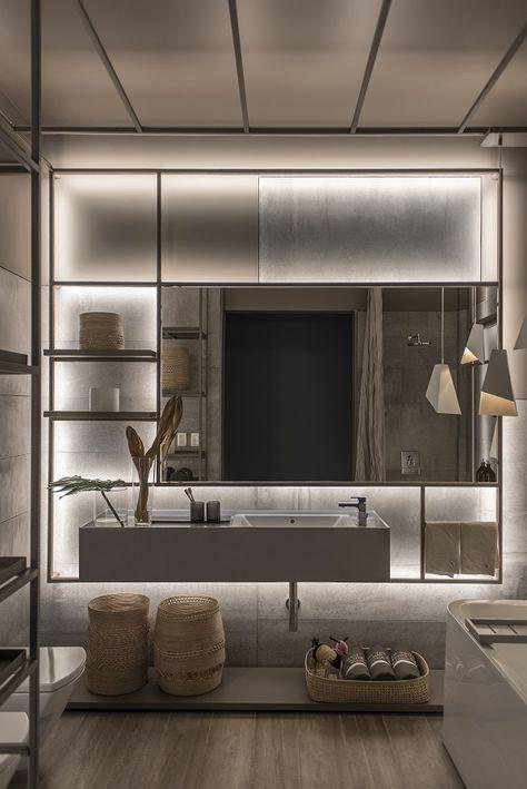 Una Sala De Baño Diseñada Por Las Arquitectas Melisa Herc Y Carolina Feller Que Prioriza La Funcionalidad Dentro Atmósfera Cálida Placentera