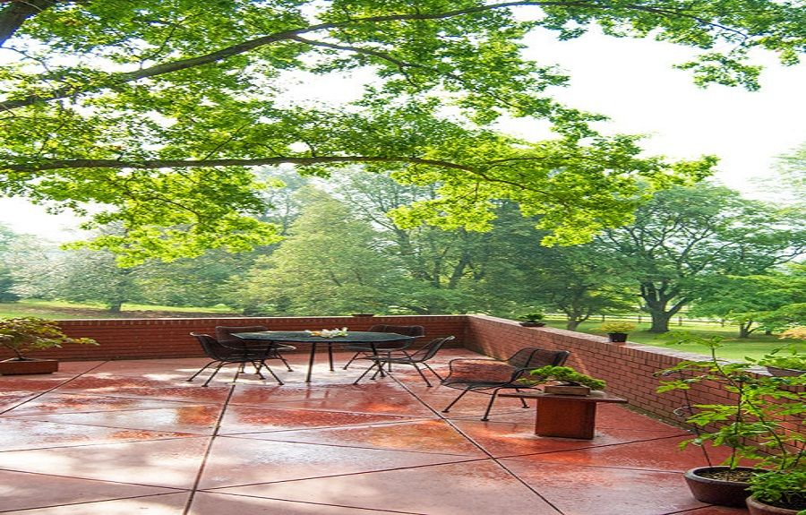Red Triangle Concrete Patio Designs In Deck ~ Http://lanewstalk.com/various  Options Of Concrete Patio Designs/