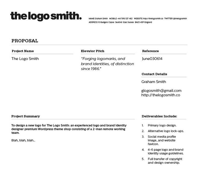 Proposal And Invoice Template  Graphic Design Tools