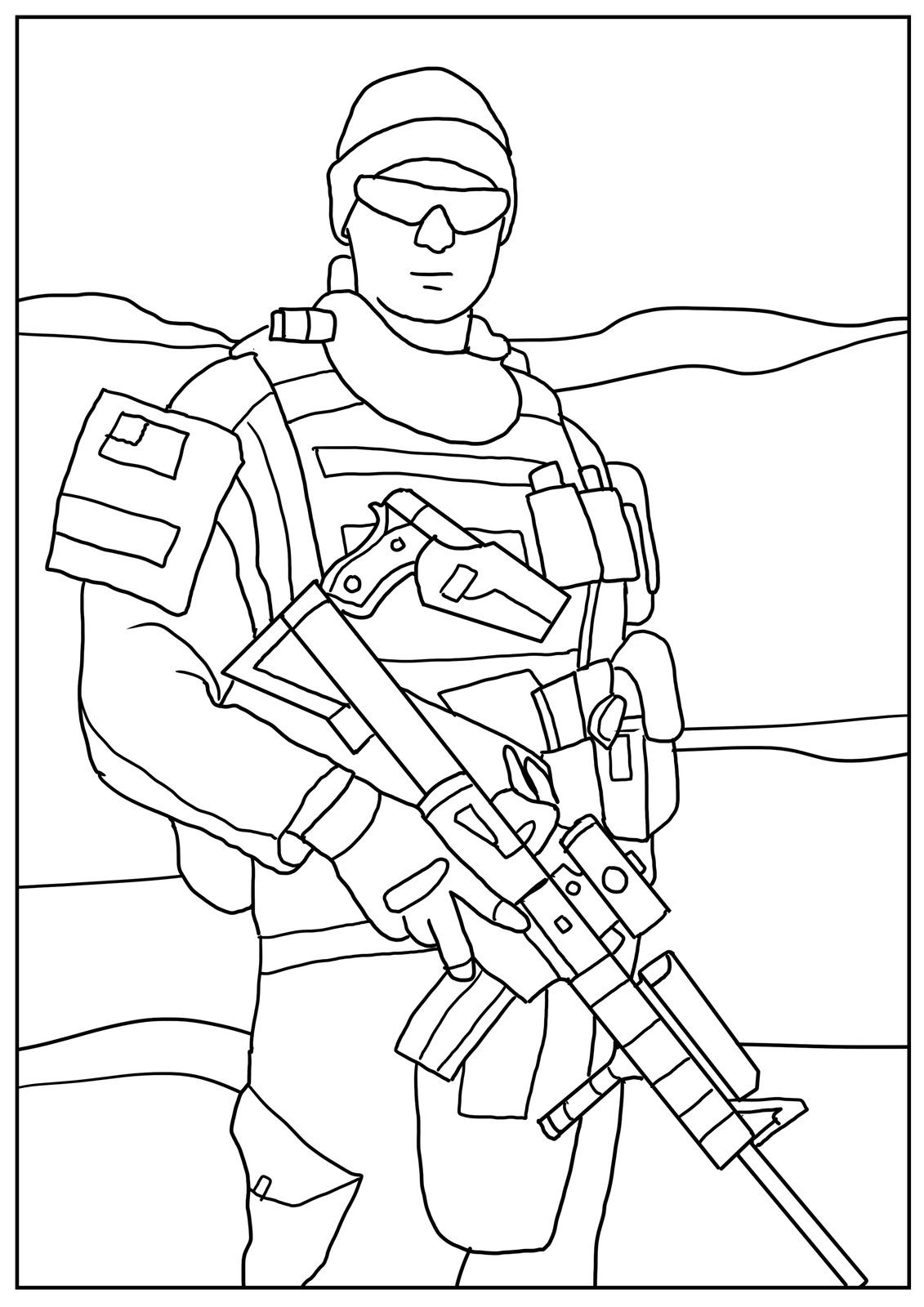 Heavily Armed Us Soldiers Coloring Book Coloring Books Bear Coloring Pages Mermaid Coloring Pages