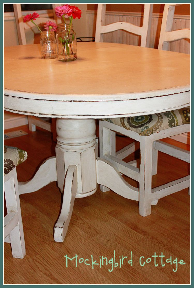 Refinishing Kitchen Table Mockingbird Cottage: Refinished Kitchen Table and Chairs