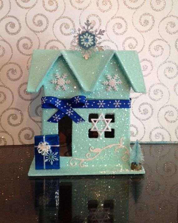 Hanukkah Decoration Decor Glitter House Jewish Star Of David Present