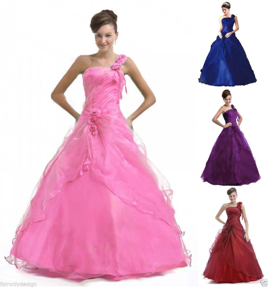 Formal Stock Long Evening Formal Prom Dress Ball Gown Size 6 8 10 12 ...