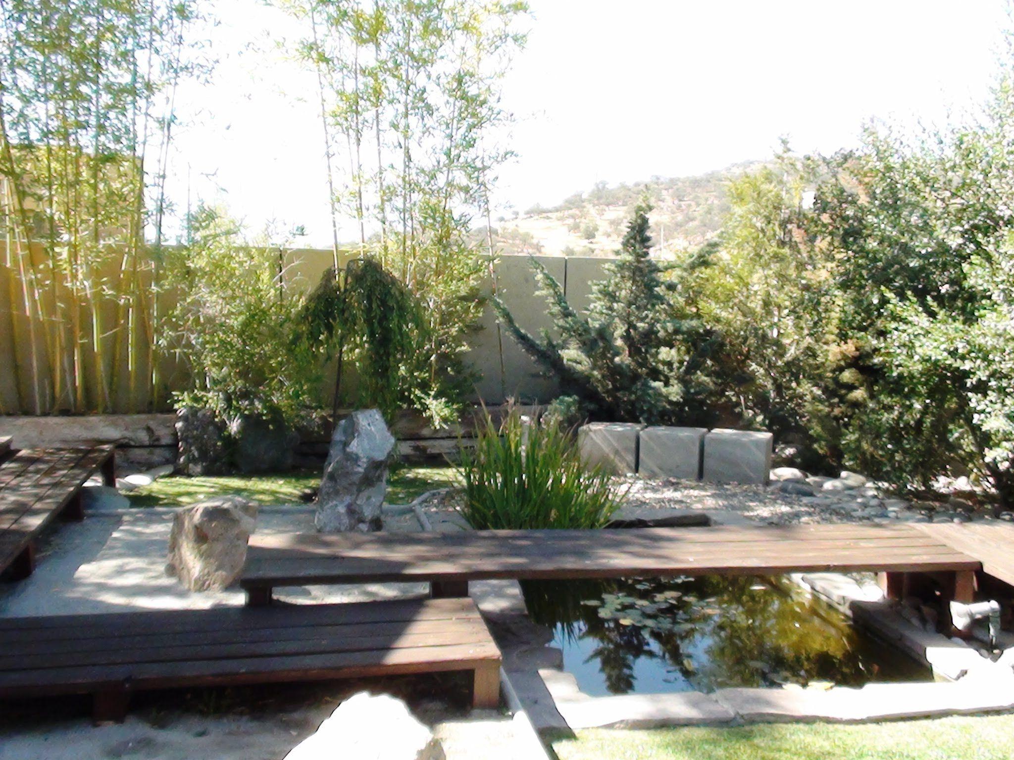 jardines zen diseo con puentes
