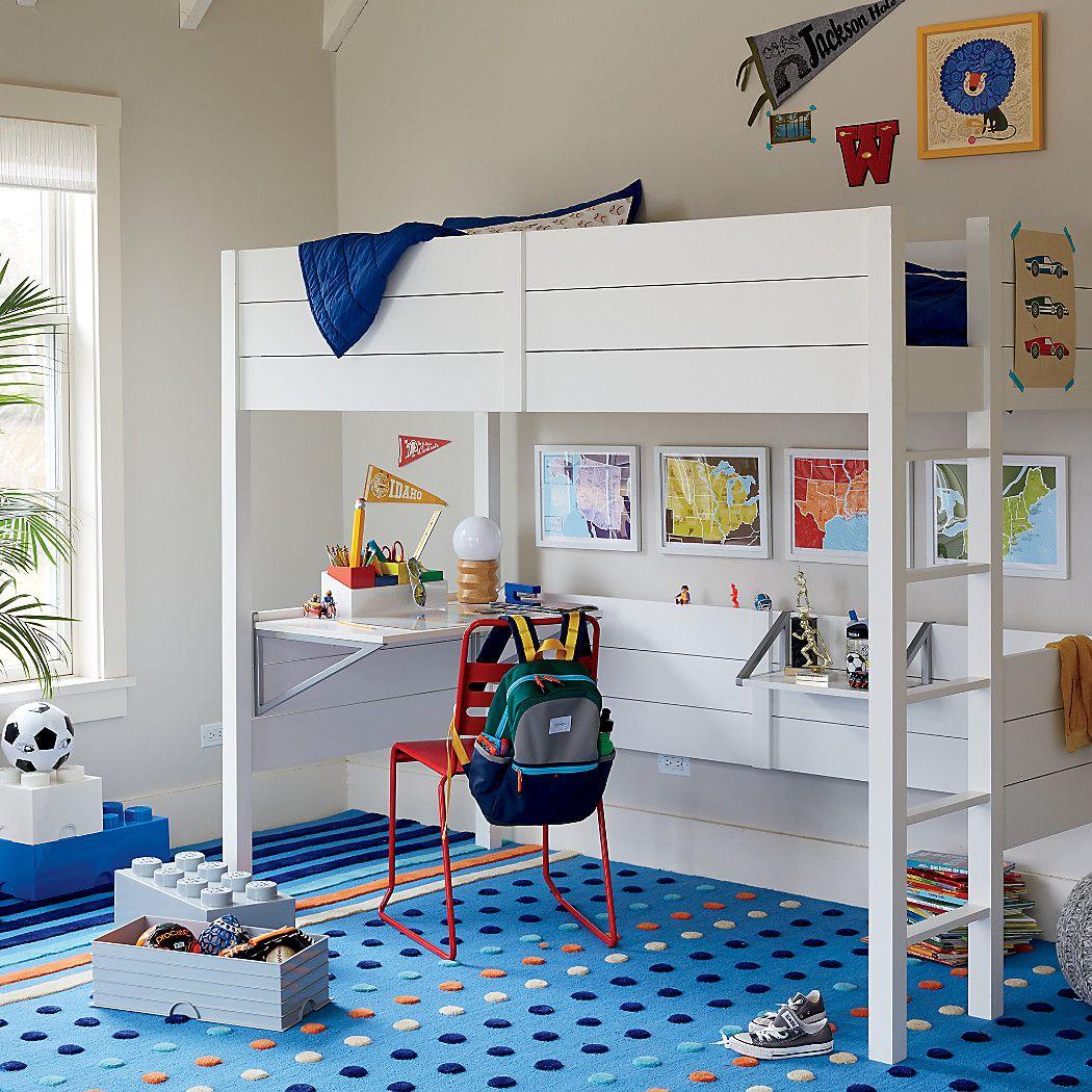 Kids Parke White Loft Bed Desk Reviews Crate And Barrel White Loft Bed Loft Bed Twin Loft Bed