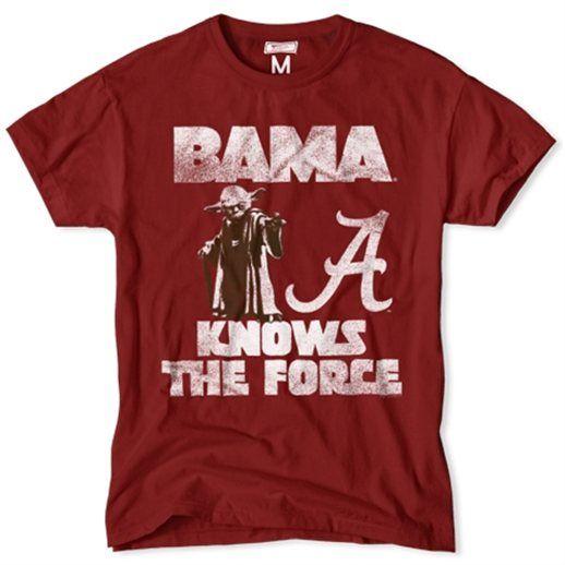Alabama Crimson Tide Crimson NCAA Star Wars T Shirt   I