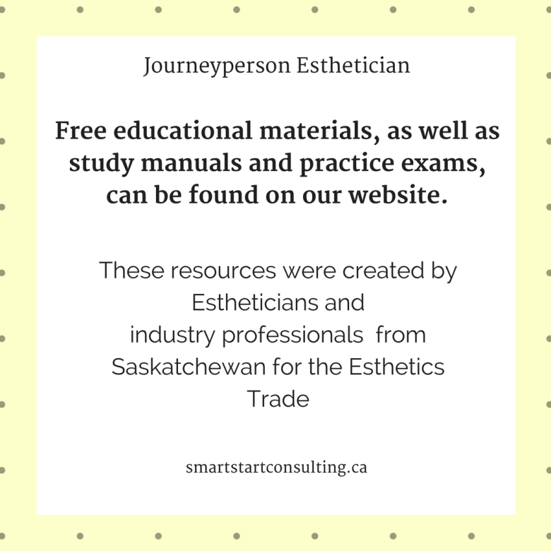 questions about the journeyperson esthetician certificate ...