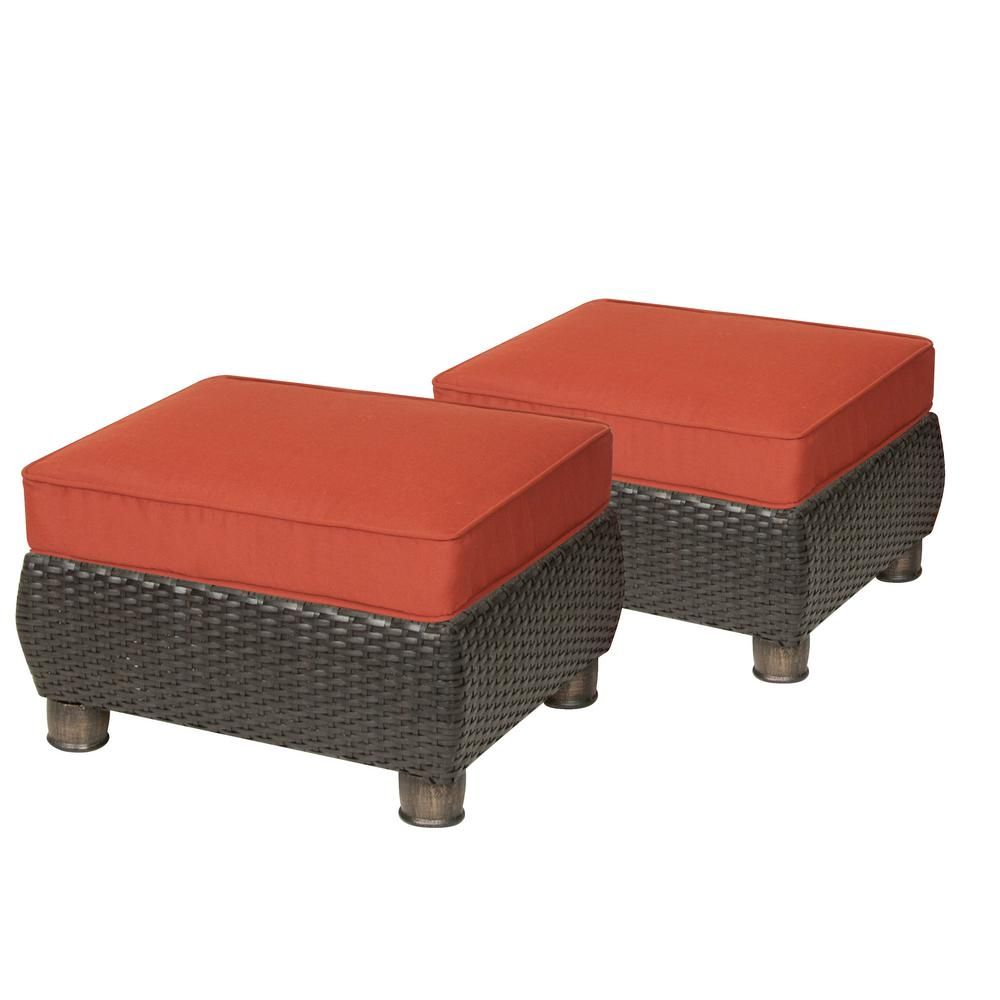 Brilliant La Z Boy Breckenridge 2 Piece Wicker Outdoor Ottoman Set Machost Co Dining Chair Design Ideas Machostcouk