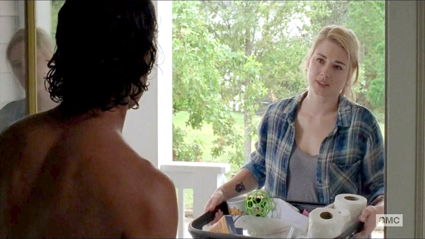 Andrew Lincoln As Rick Grimes And Alexandra Breckenridge As The