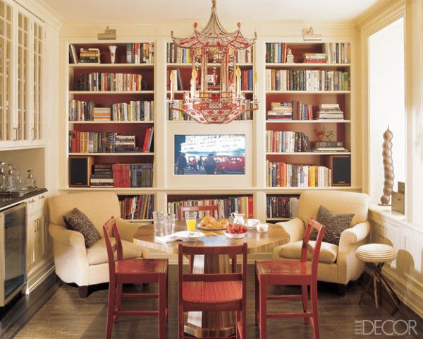 kitchen and bookcases For the Home Pinterest Elle decor