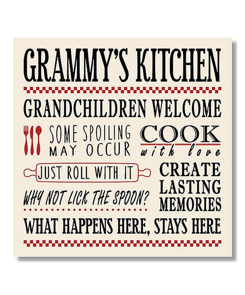 Look what i found on zulily grammyus kitchen wall art by my word