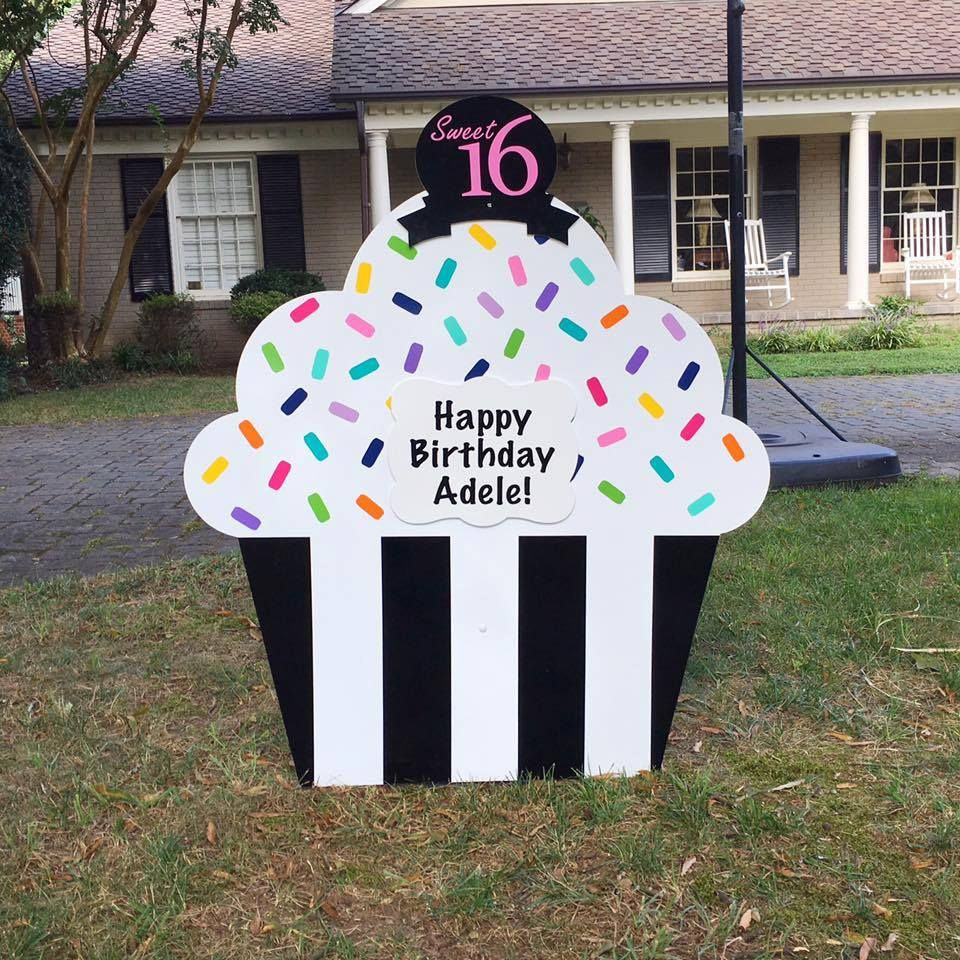 Pin By The Stork Lady Business Opport On Birthday Yard Sign Rentals San Antonio Tx Birthday Yard Signs Birthday Lawn Signs Birthday Sign